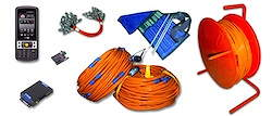 Cable, clips, electrodes, spare parts, additional equipment